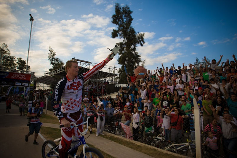 Connor Fields wins the UCI BMX Supercross World Cup Main event!