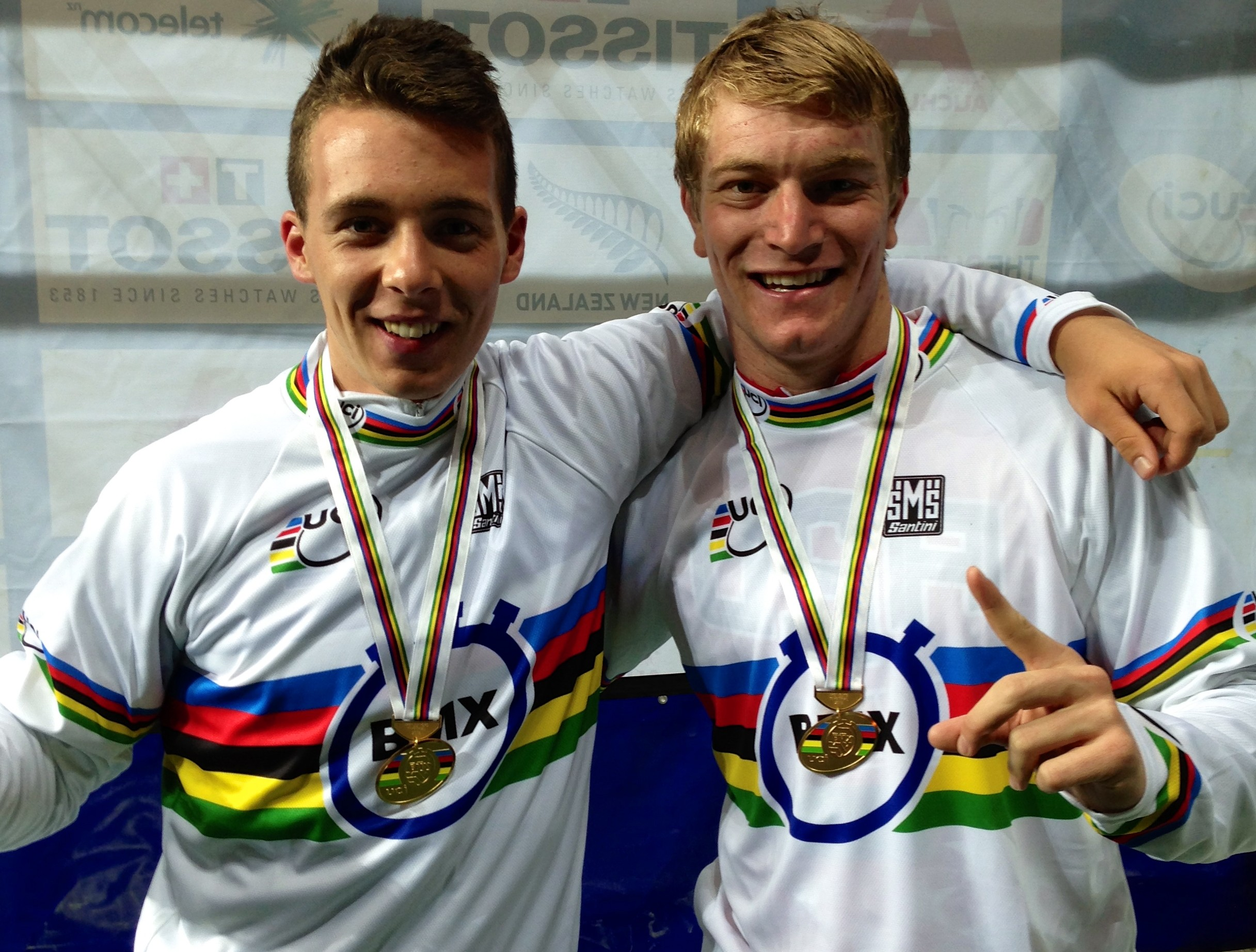 Connor Fields and Romain Mahieu win UCI BMX World Championships