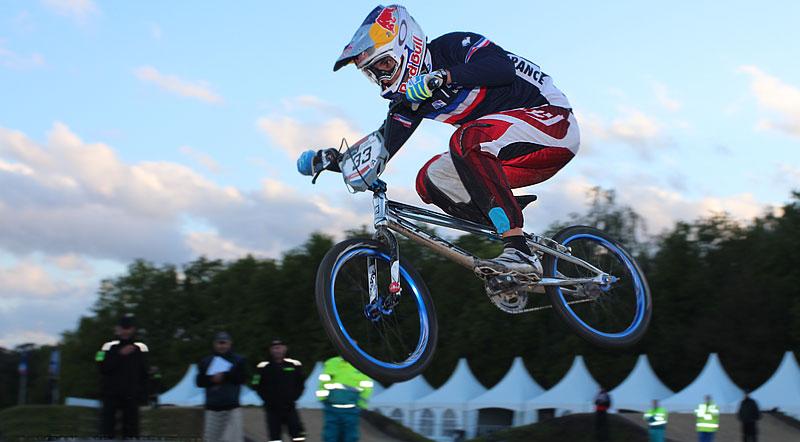 Joris Daudet wins the SuperFinal Time Trial at UCI BMX SX World Cup #2