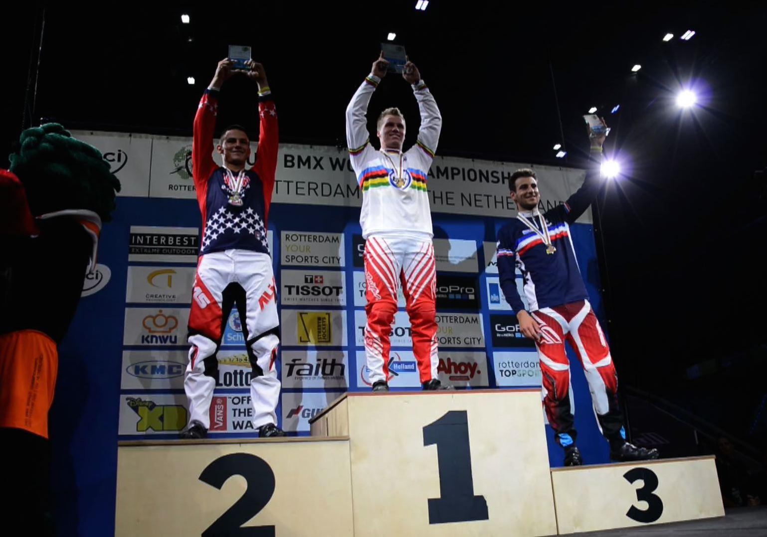 Joris Daudet wins the Bronze Medal at the UCI BMX World Championship TT Finals