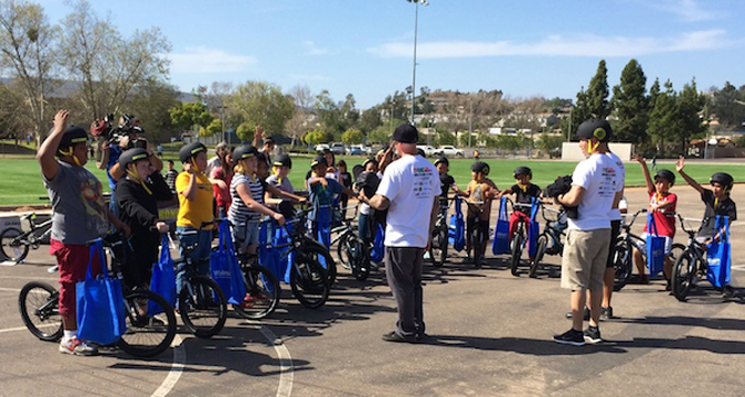 DHR Ride to End Obesity Program at Bernardo Heights School