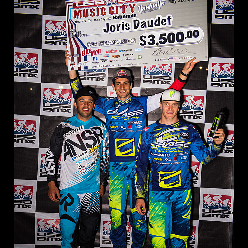 Joris Daudet Wins both days, Chase Sweeps Podium at Nashville, TN