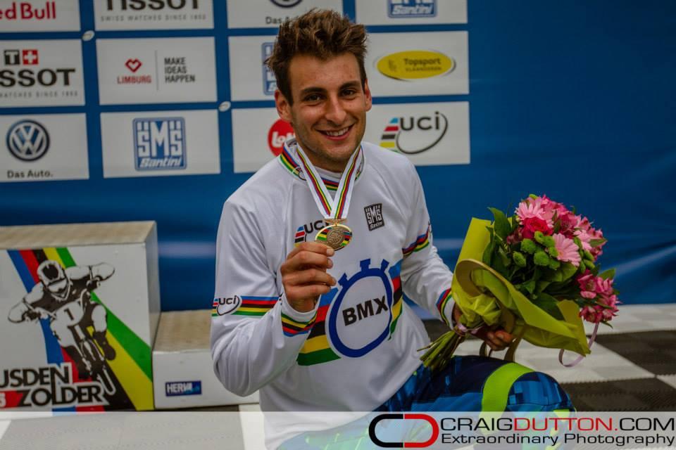 Joris Daudet wins UCI BMX World Championship Time Trial