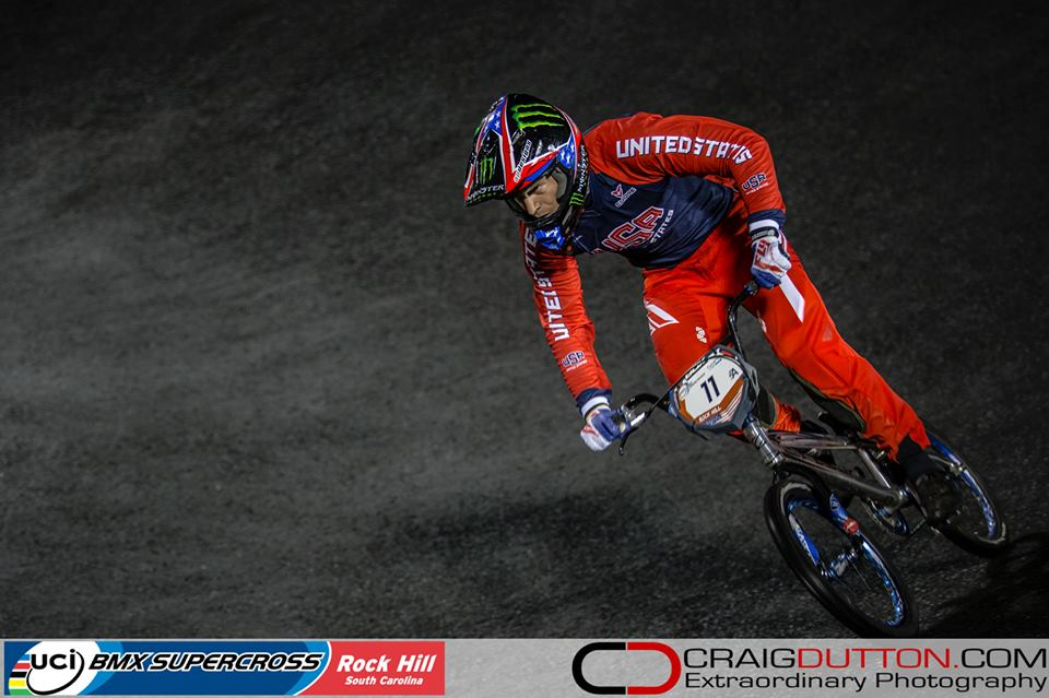 Connor Fields and Stefany Hernandez Podium at UCI BMX World Cup Finals