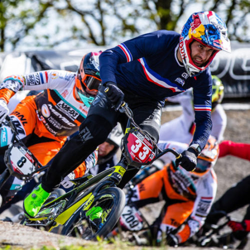 #33 (DAUDET Joris) FRA at Round 3 of the 2019 UCI BMX Supercross World Cup in Papendal, The Netherlands